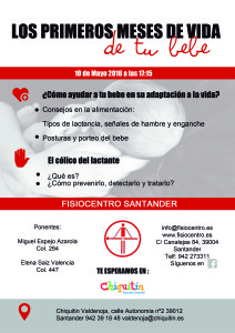 Cartel Charla colicos Chiquitin